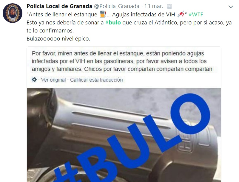La Polícia ha alertado del nuevo bulo que se ha extendido a las gasolineras